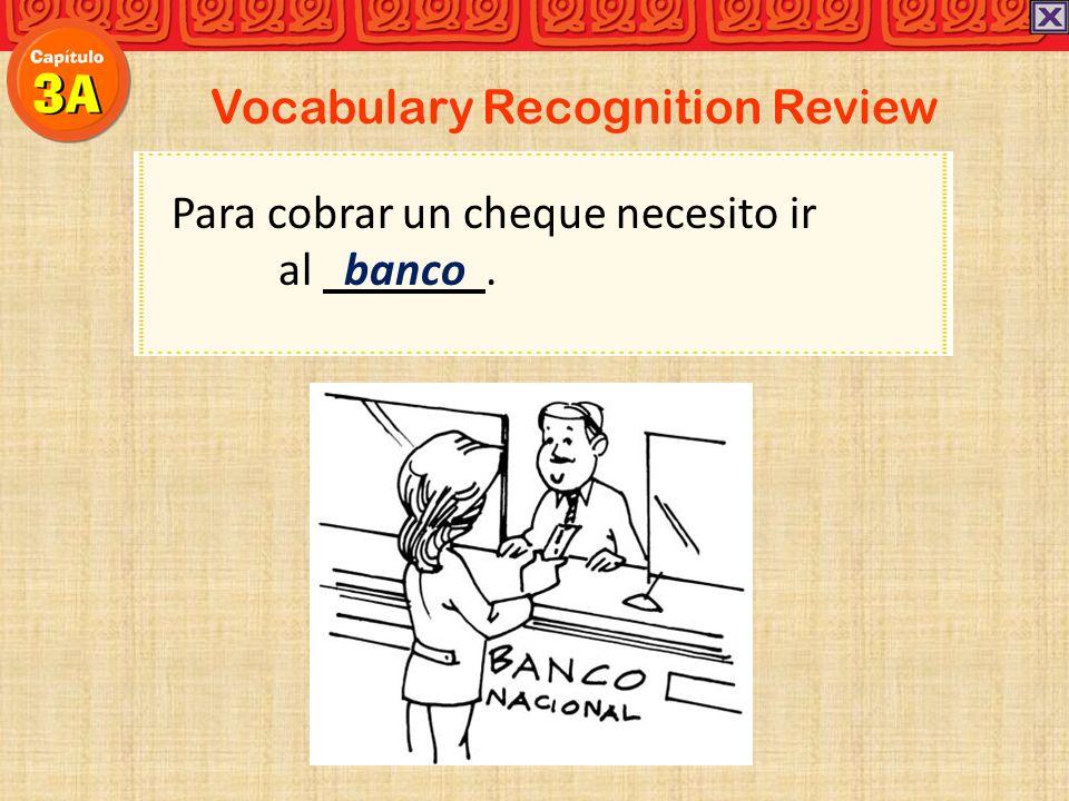 Vocabulary Recognition Review El correo en el centro no se abre las ocho de la mañana.