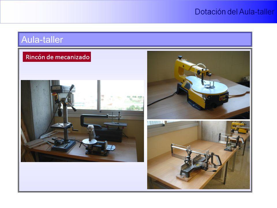Dotación del Aula-taller Aula-taller Rincón de mecanizado