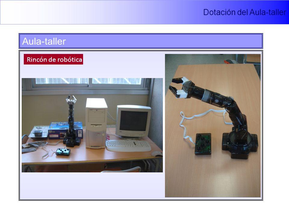 Dotación del Aula-taller Aula-taller Rincón de robótica