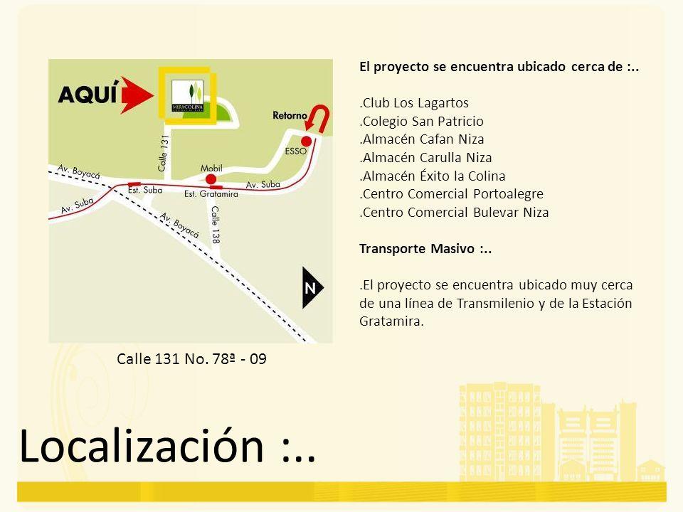 Localización :..Calle 131 No.
