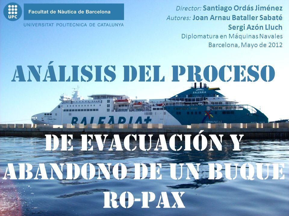 de evacuación Y abandono De un buque Ro-Pax Análisis del proceso Director: Santiago Ordás Jiménez Autores: Joan Arnau Bataller Sabaté Sergi Azón Lluch
