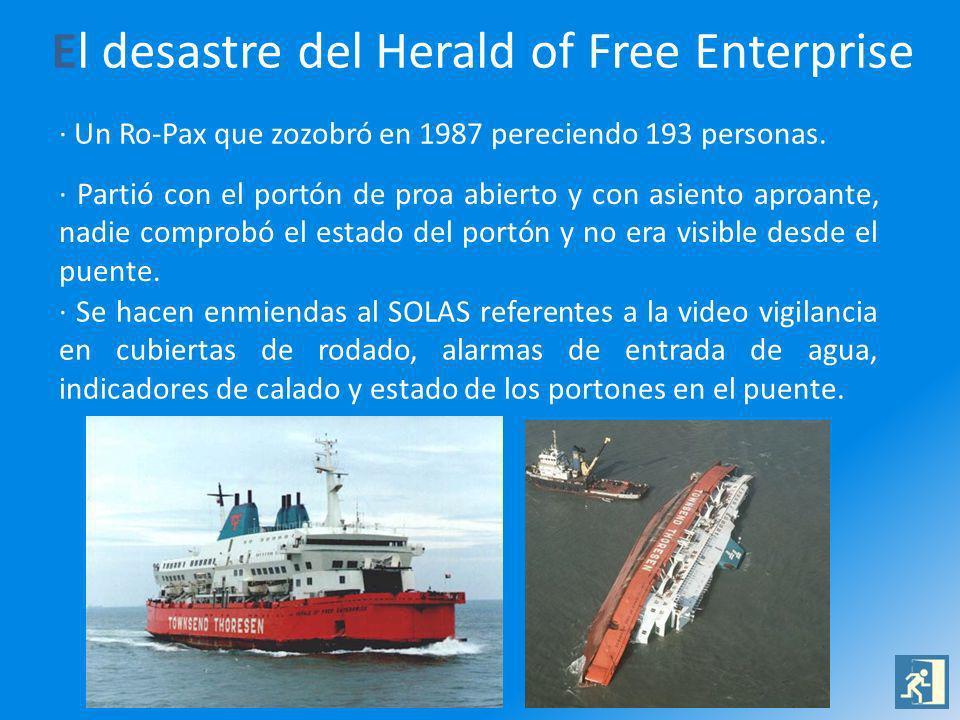 El desastre del Herald of Free Enterprise · Un Ro-Pax que zozobró en 1987 pereciendo 193 personas. · Partió con el portón de proa abierto y con asient