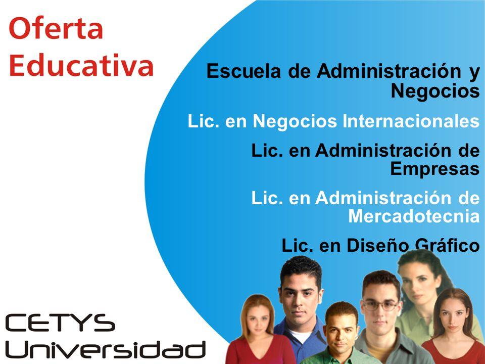 Escuela de Administración y Negocios Lic. en Negocios Internacionales Lic.