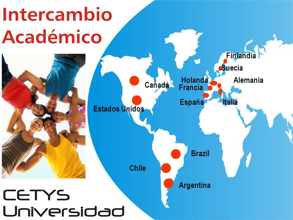 Chile Canadá Estados Unidos EspañaItalia Francia Suecia Alemania Argentina Finlandia Brazil Holanda
