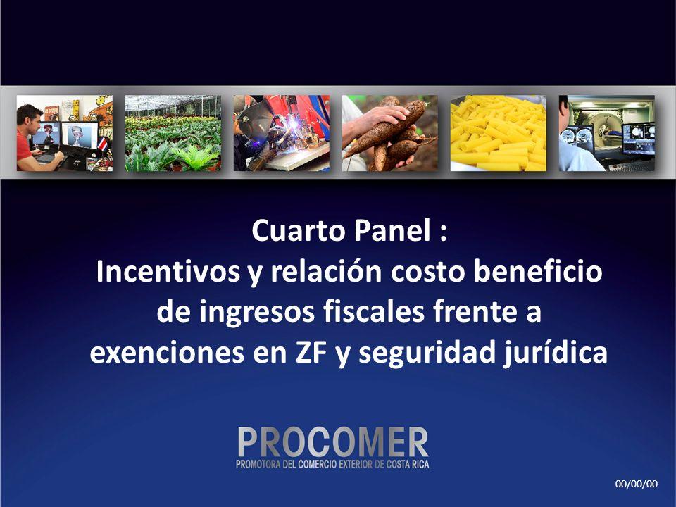 00/00/00 Cuarto Panel : Incentivos y relación costo beneficio de ingresos fiscales frente a exenciones en ZF y seguridad jurídica