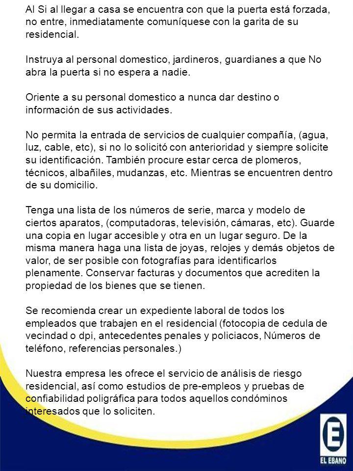 TELEFONOS DE EMERGENCIA Gerente de Operaciones Cnel.