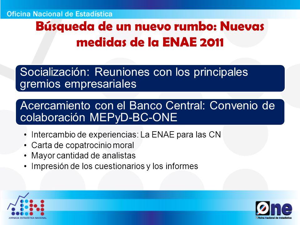 Resultados parciales de la ENAE 2011: Valió la pena el esfuerzo.