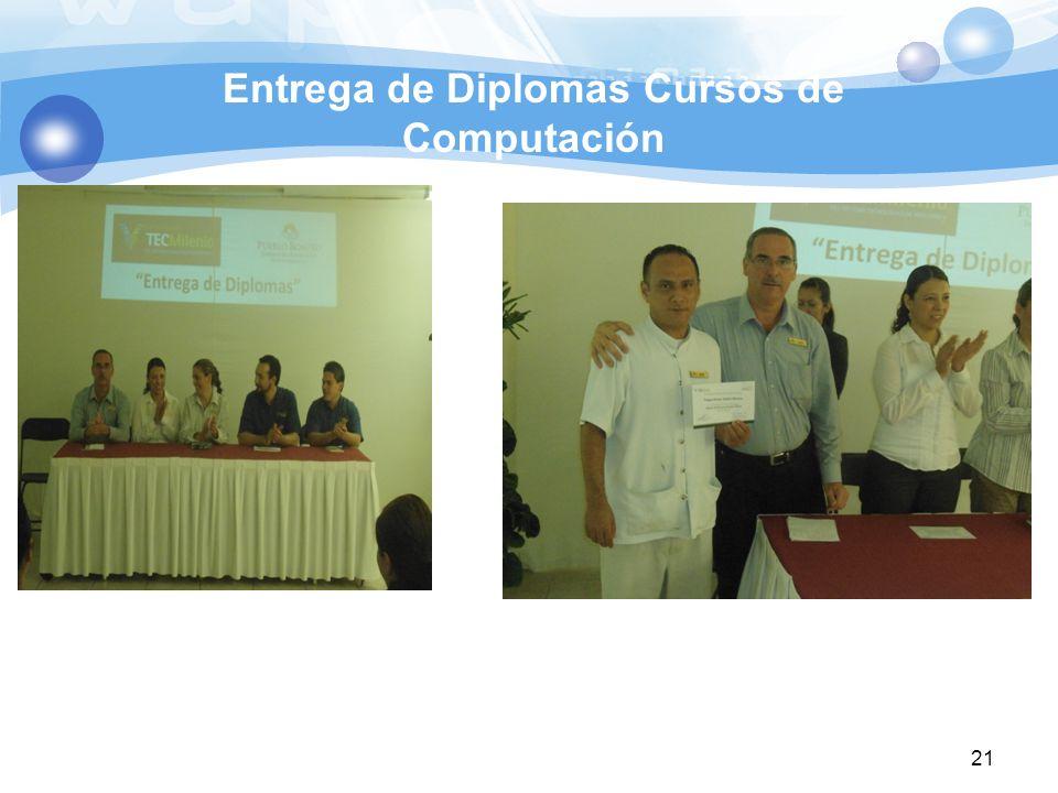 Entrega de Diplomas Cursos de Computación 21