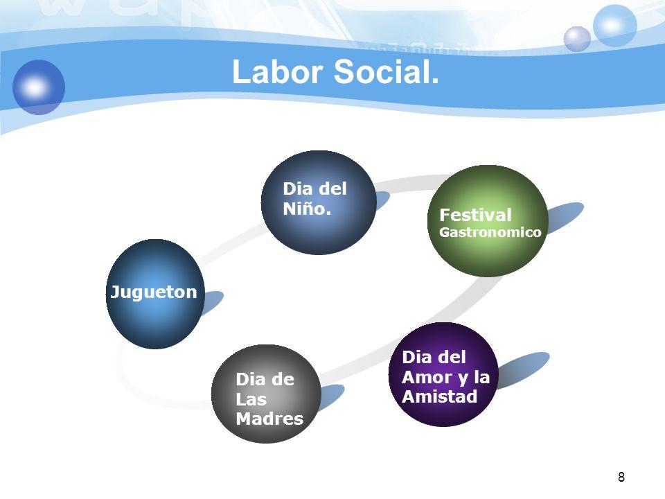 Labor Social. Jugueton Dia del Niño. Festival Gastronomico Dia del Amor y la Amistad Dia de Las Madres 8