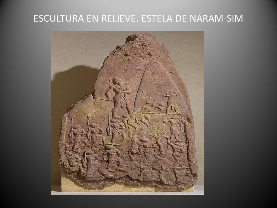ESCULTURA EN RELIEVE. ESTELA DE NARAM-SIM