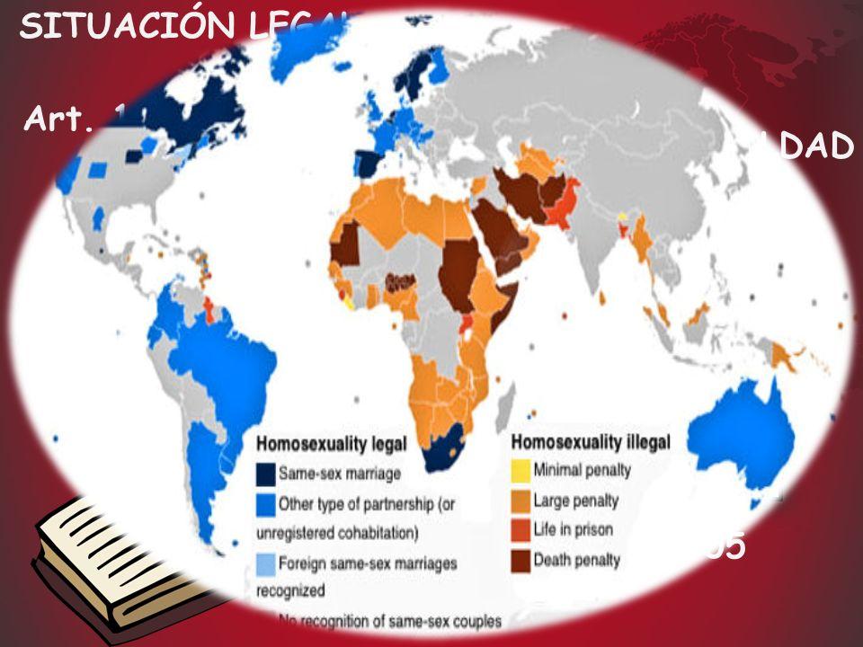 SITUACIÓN LEGAL Art. 14 Constitución Española LEY 13/2005 = PRINCIPIO DE IGUALDAD