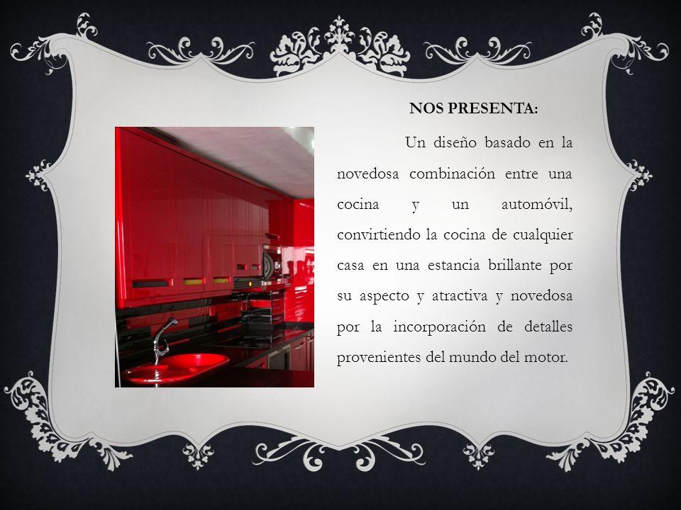 NOS PRESENTA: Un diseño basado en la novedosa combinación entre una cocina y un automóvil, convirtiendo la cocina de cualquier casa en una estancia br
