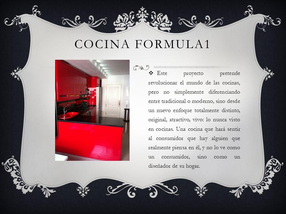 Cocina Fórmula 1 se puede fabricar en colores metalizados, del mismo color que nuestro coche favorito.