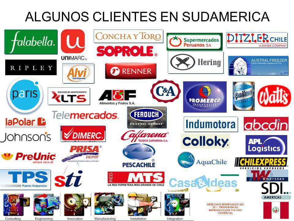 DERECHOS RESERVADOS SDI 2011 PROHIBIDA SU REPRODUCCION Y/O USO COMERCIAL ALGUNOS CLIENTES EN SUDAMERICA