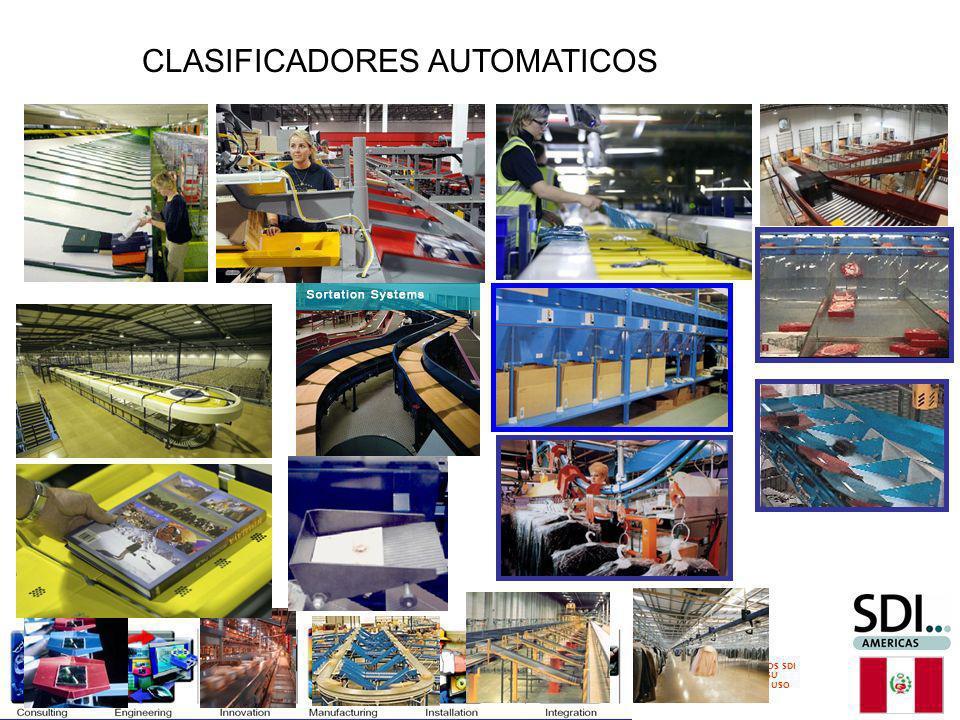 DERECHOS RESERVADOS SDI 2011 PROHIBIDA SU REPRODUCCION Y/O USO COMERCIAL CLASIFICADORES AUTOMATICOS