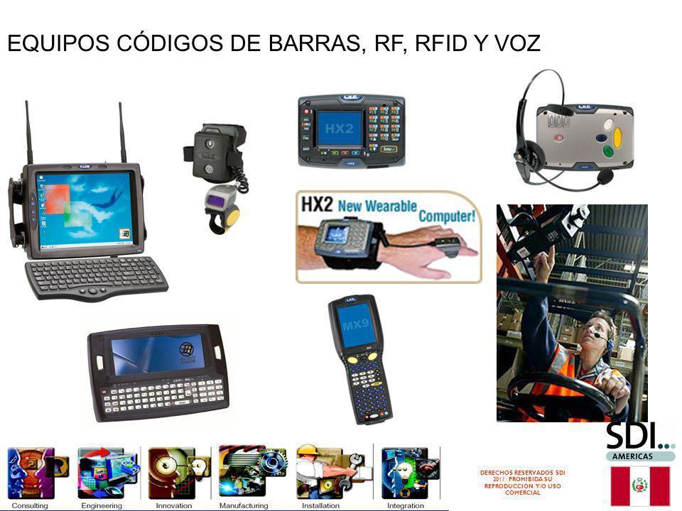 DERECHOS RESERVADOS SDI 2011 PROHIBIDA SU REPRODUCCION Y/O USO COMERCIAL EQUIPOS CÓDIGOS DE BARRAS, RF, RFID Y VOZ