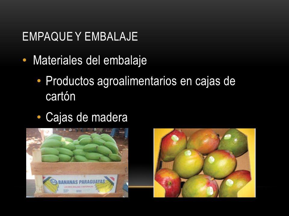 EMPAQUE Y EMBALAJE Materiales del embalaje Productos agroalimentarios en cajas de cartón Cajas de madera