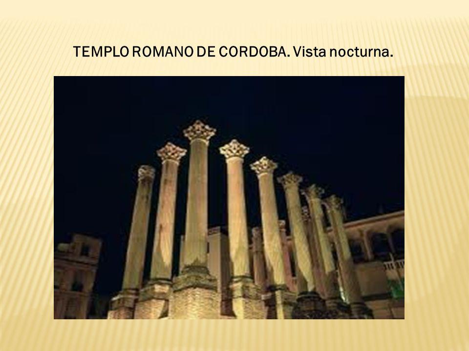 TEMPLO ROMANO DE CORDOBA. Vista nocturna.