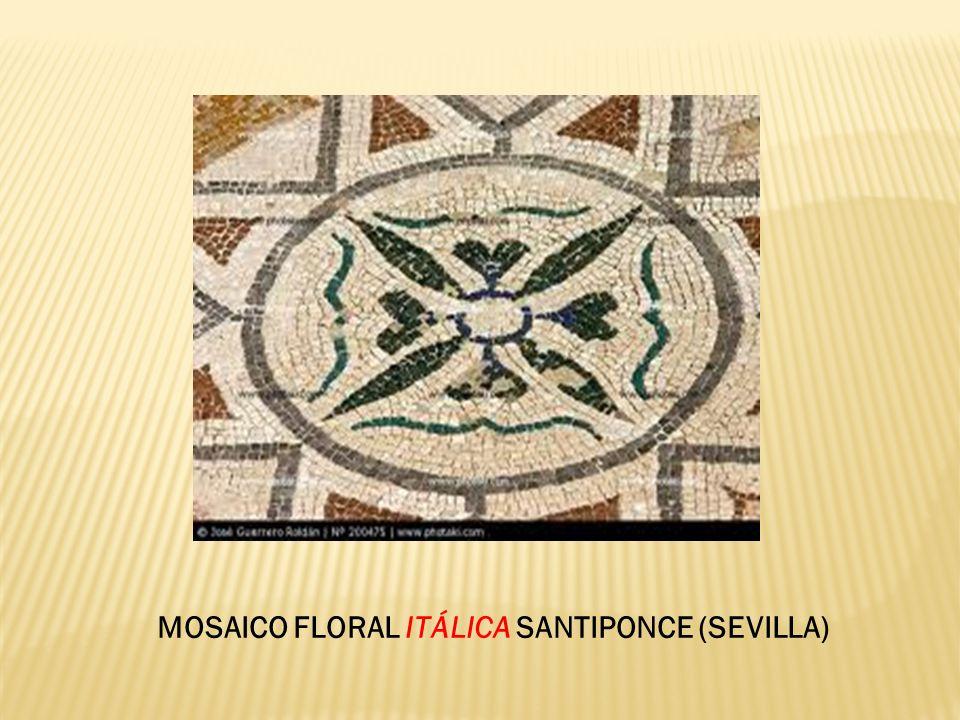 MOSAICO FLORAL ITÁLICA SANTIPONCE (SEVILLA)