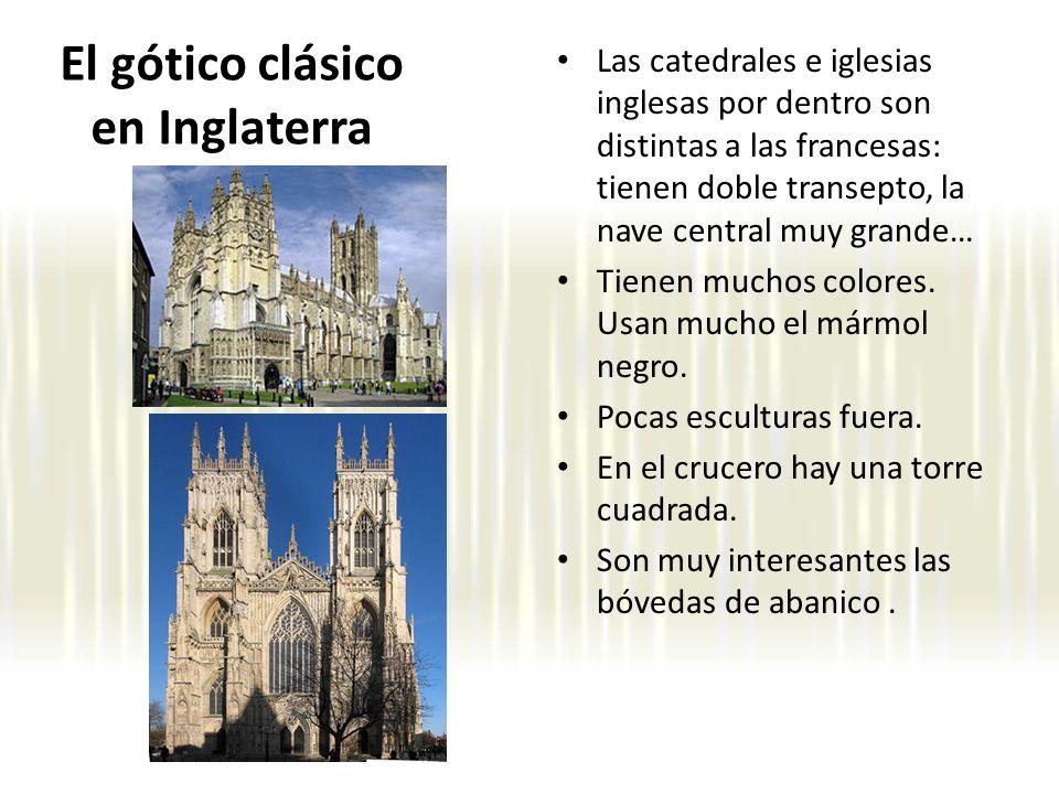 Las catedrales e iglesias inglesas por dentro son distintas a las francesas: tienen doble transepto, la nave central muy grande… Tienen muchos colores