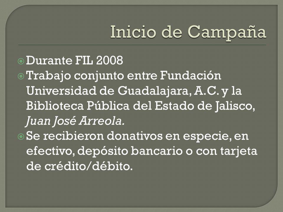 Durante FIL 2008 Trabajo conjunto entre Fundación Universidad de Guadalajara, A.C.