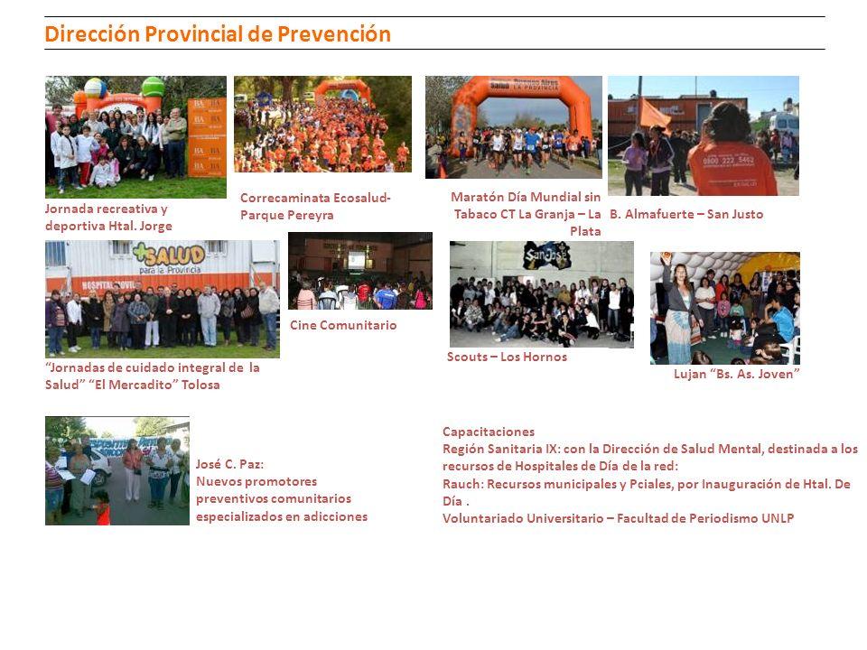 Jornada recreativa y deportiva Htal. Jorge Maratón Día Mundial sin Tabaco CT La Granja – La Plata B. Almafuerte – San Justo Lujan Bs. As. Joven Jornad