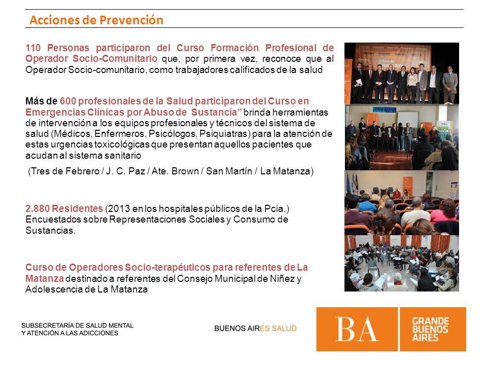 110 Personas participaron del Curso Formación Profesional de Operador Socio-Comunitario que, por primera vez, reconoce que al Operador Socio-comunitar