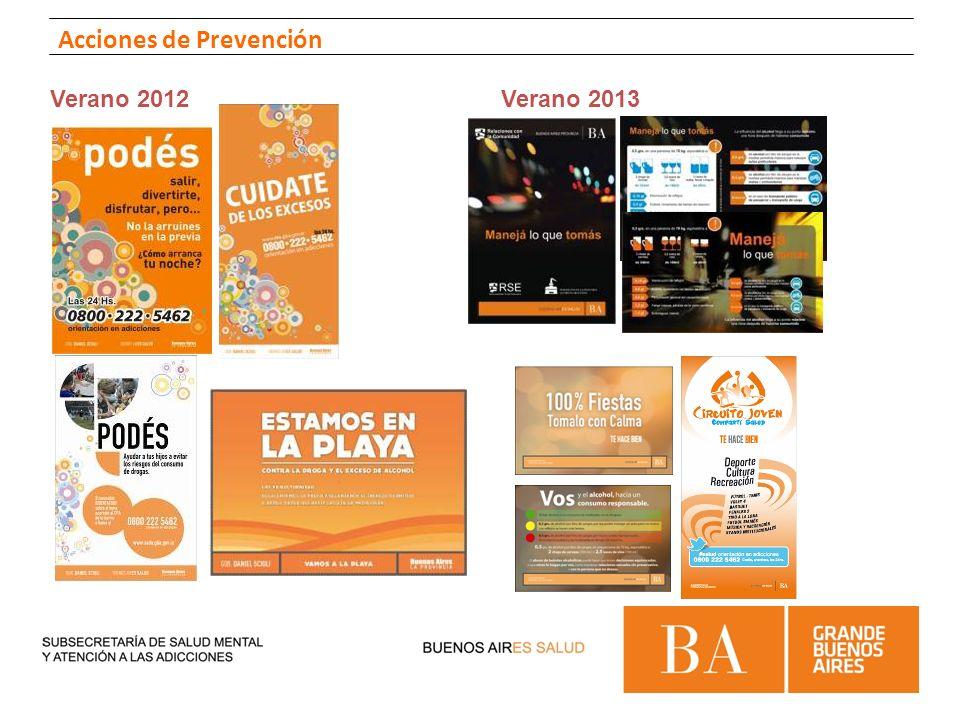 Verano 2012Verano 2013 Acciones de Prevención