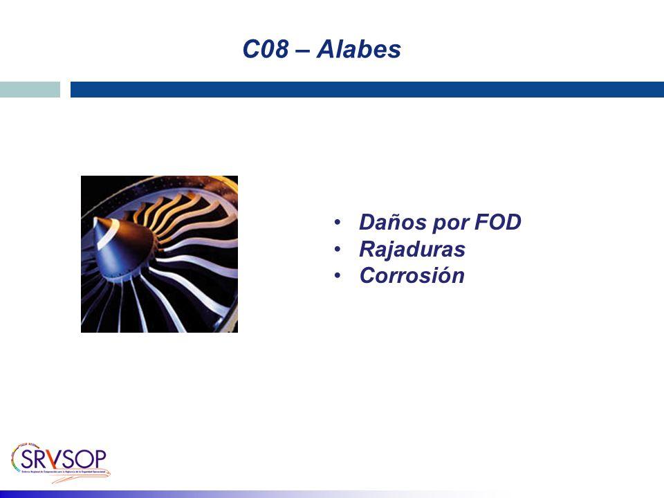 C08 – Alabes Daños por FOD Rajaduras Corrosión