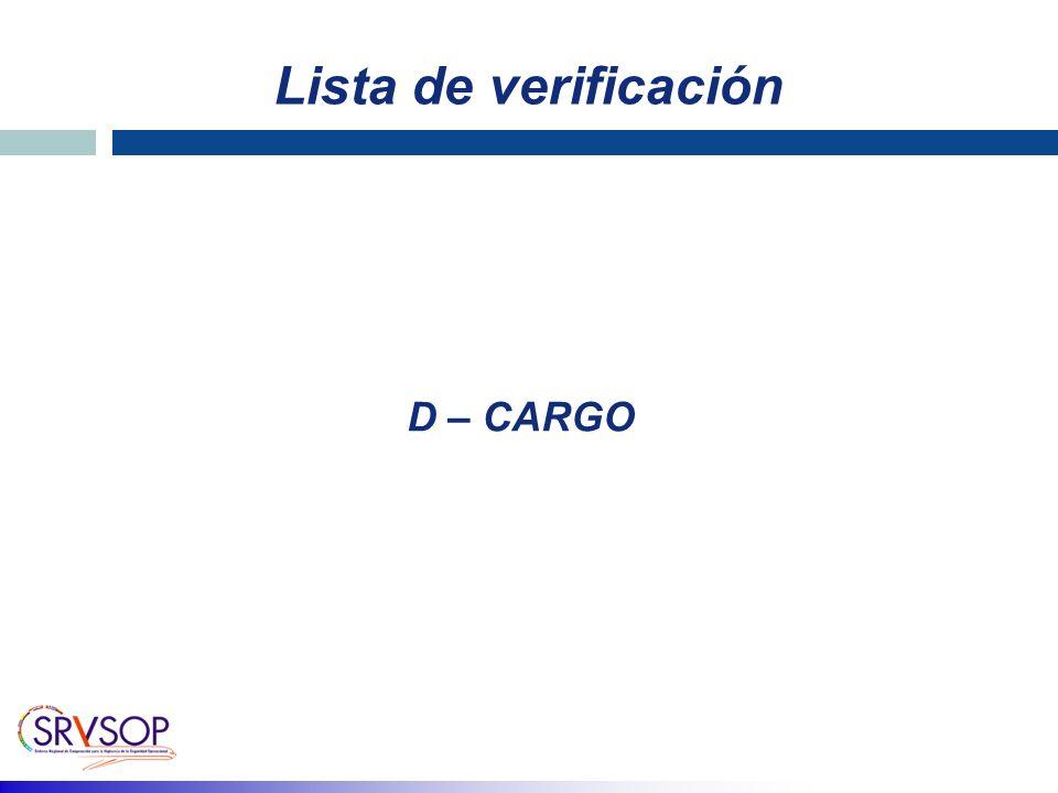 Lista de verificación D – CARGO