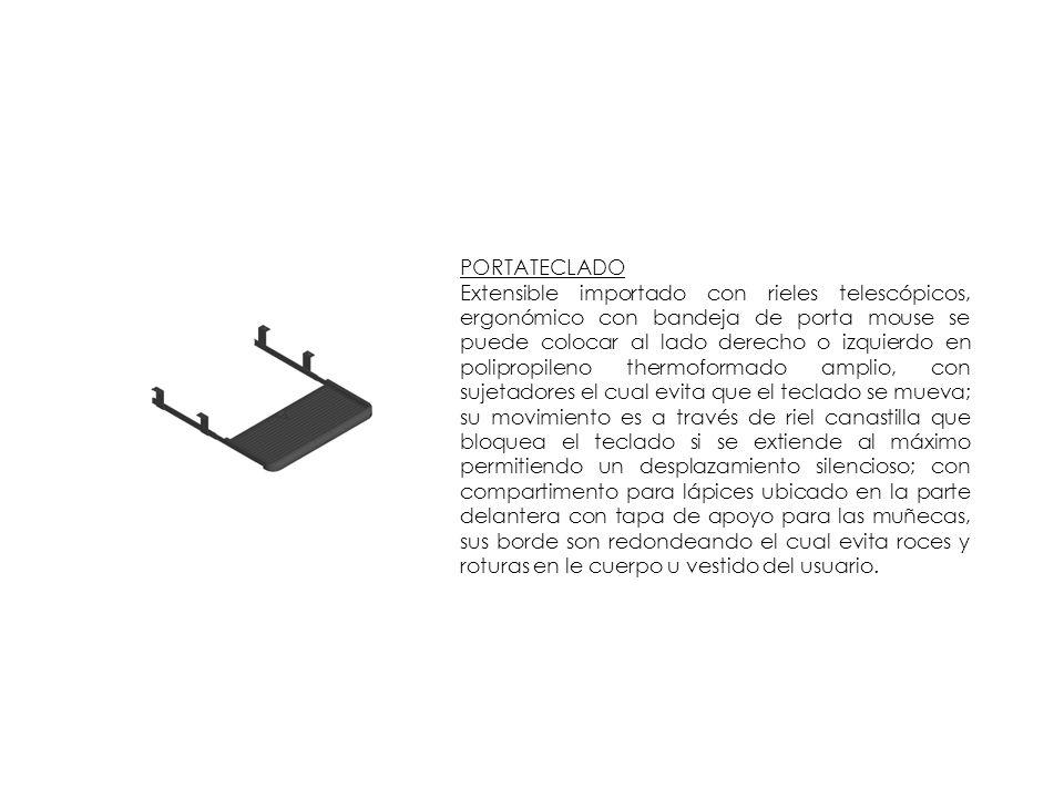 PORTATECLADO Extensible importado con rieles telescópicos, ergonómico con bandeja de porta mouse se puede colocar al lado derecho o izquierdo en polip