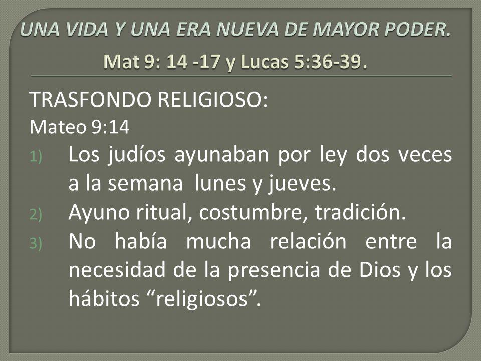 TRASFONDO RELIGIOSO:
