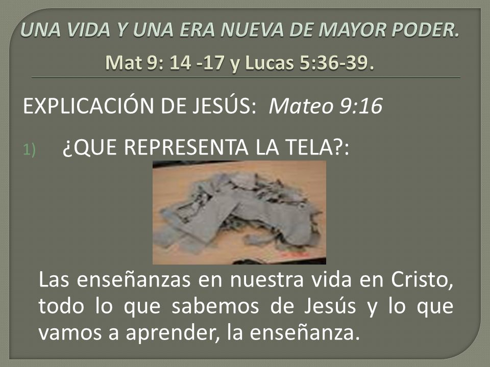 EXPLICACIÓN DE JESÚS: 4. ¿QUÉ REPRESENTAN EL ODRE Y EL VINO?