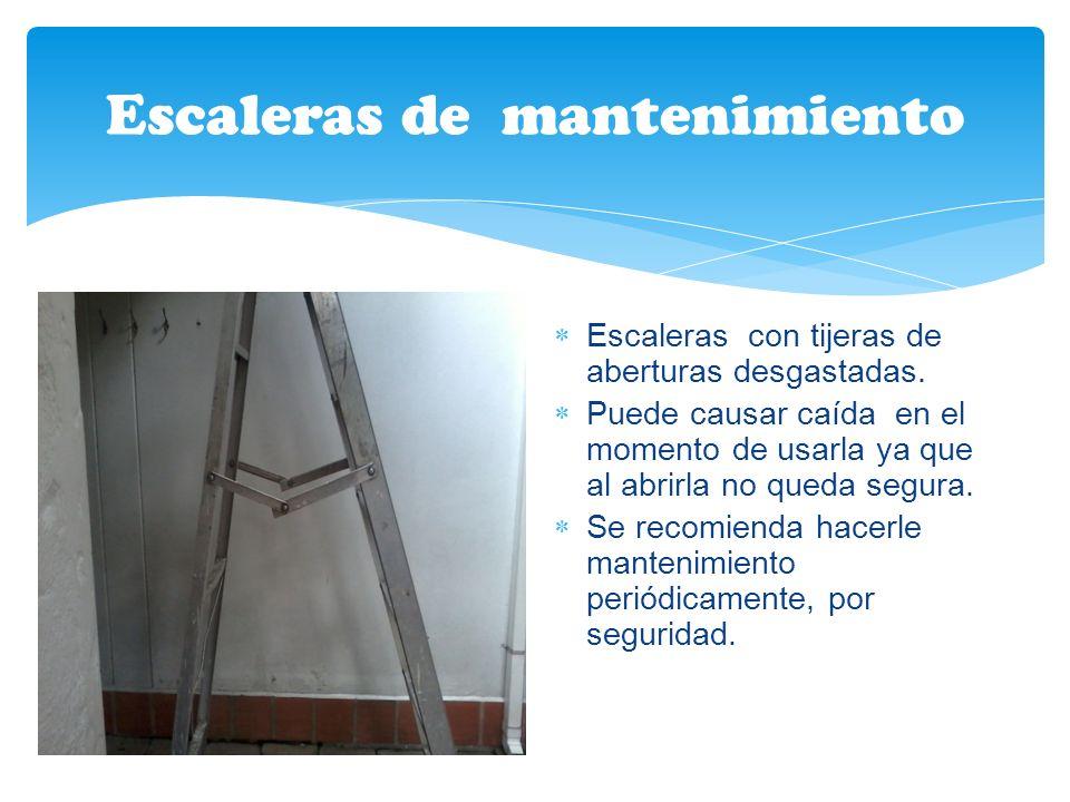Cuarto de aseo Cajón que causa atrapamiento por no tener buena seguridad en las puertas. Se recomienda cambiar el cajón para garantizar la protección