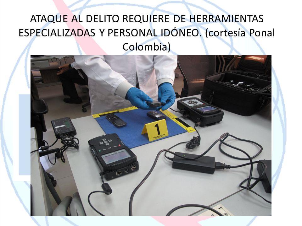 ATAQUE AL DELITO REQUIERE DE HERRAMIENTAS ESPECIALIZADAS Y PERSONAL IDÓNEO. (cortesía Ponal Colombia)