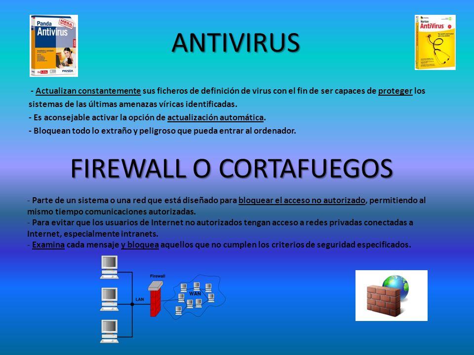 ANTIVIRUS - Actualizan constantemente sus ficheros de definición de virus con el fin de ser capaces de proteger los sistemas de las últimas amenazas v