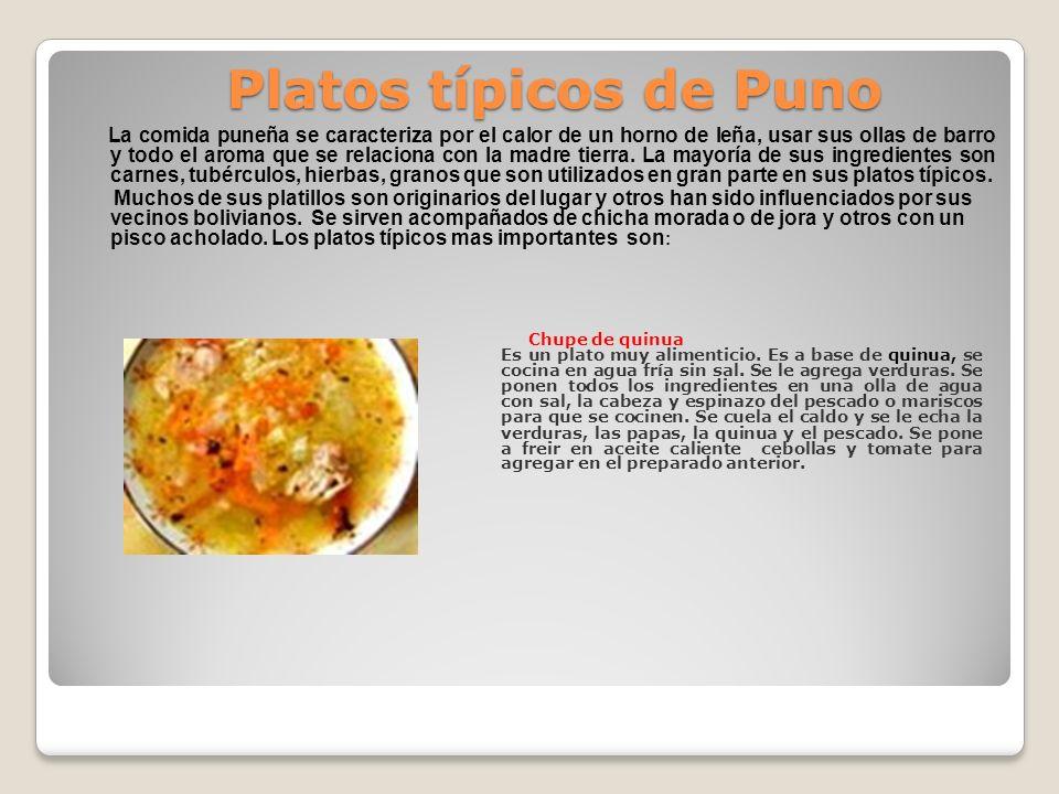 La comida puneña se caracteriza por el calor de un horno de leña, usar sus ollas de barro y todo el aroma que se relaciona con la madre tierra. La may