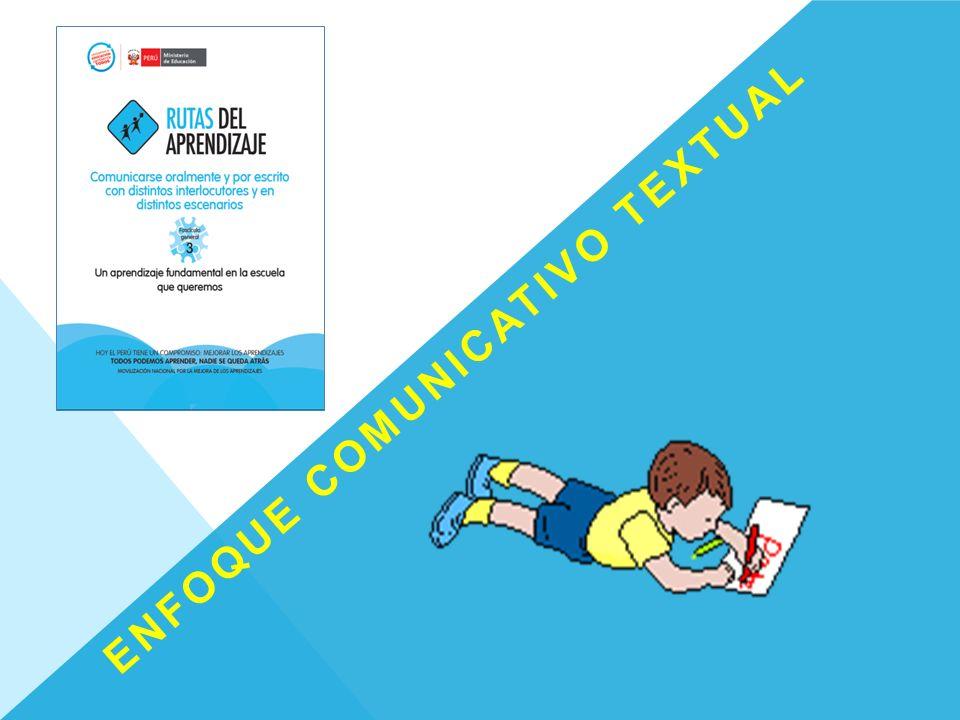 ENFOQUE COMUNICATIVO TEXTUAL: La lengua se enseña y se aprende en pleno funcionamiento.