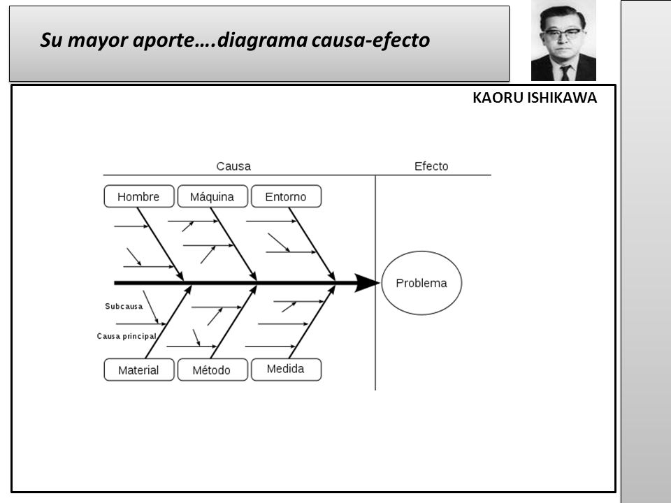 Su mayor aporte….diagrama causa-efecto KAORU ISHIKAWA