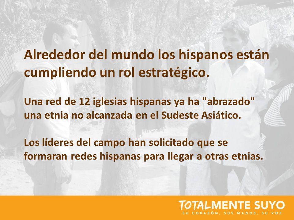 Alrededor del mundo los hispanos están cumpliendo un rol estratégico. Una red de 12 iglesias hispanas ya ha