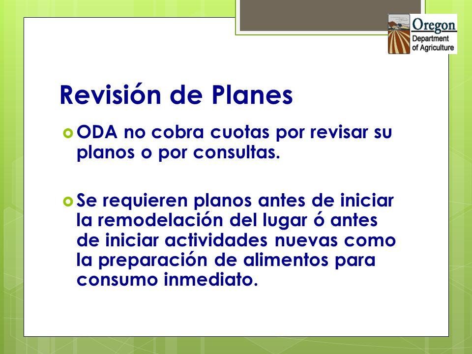 Revisión de Planes ODA no cobra cuotas por revisar su planos o por consultas. Se requieren planos antes de iniciar la remodelación del lugar ó antes d