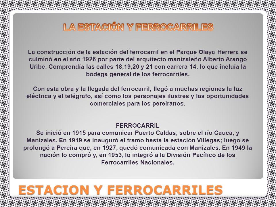 ESTACIONES Y FERROCARRILES.