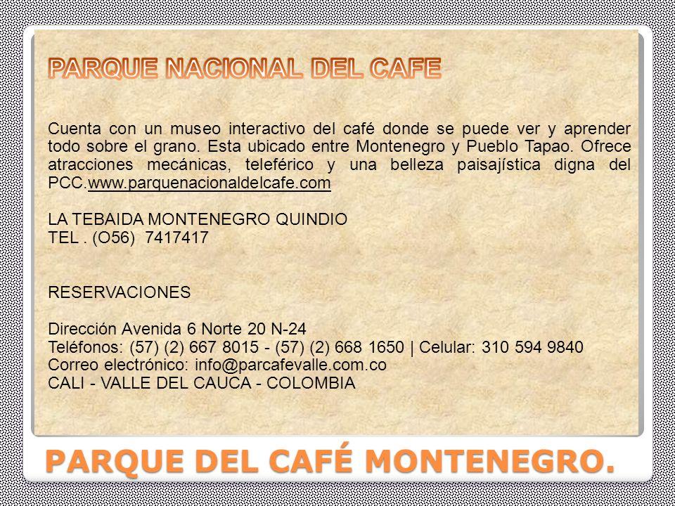 Parque nacional cultura cafetera.