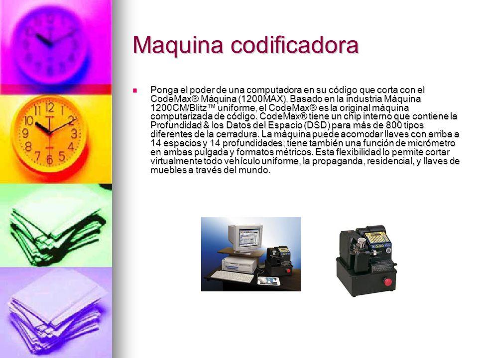 Maquina codificadora Ponga el poder de una computadora en su código que corta con el CodeMax® Máquina (1200MAX). Basado en la industria Máquina 1200CM