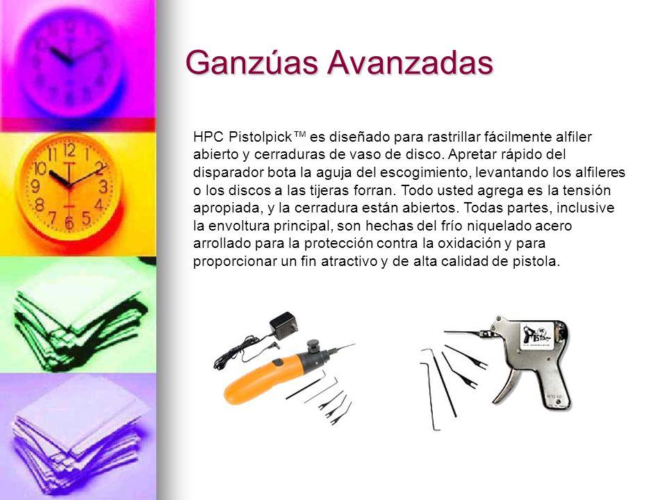 Ganzúas Avanzadas HPC Pistolpick es diseñado para rastrillar fácilmente alfiler abierto y cerraduras de vaso de disco. Apretar rápido del disparador b