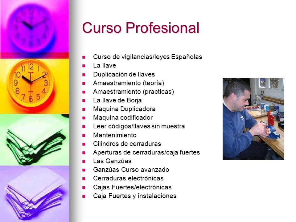 Curso de vigilancias/leyes Españolas Curso Básico para reconocer las leyes Españolas, el curso es de 180 horas.
