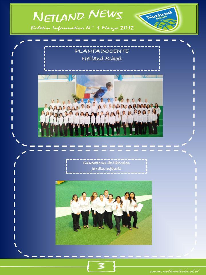 PLANTA DOCENTE Netland School Educadoras de Párvulos Jardín Infantil