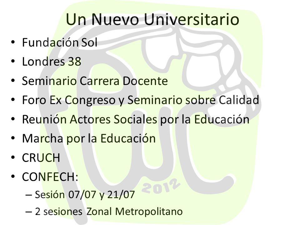 Un Nuevo Universitario Reforma Interna