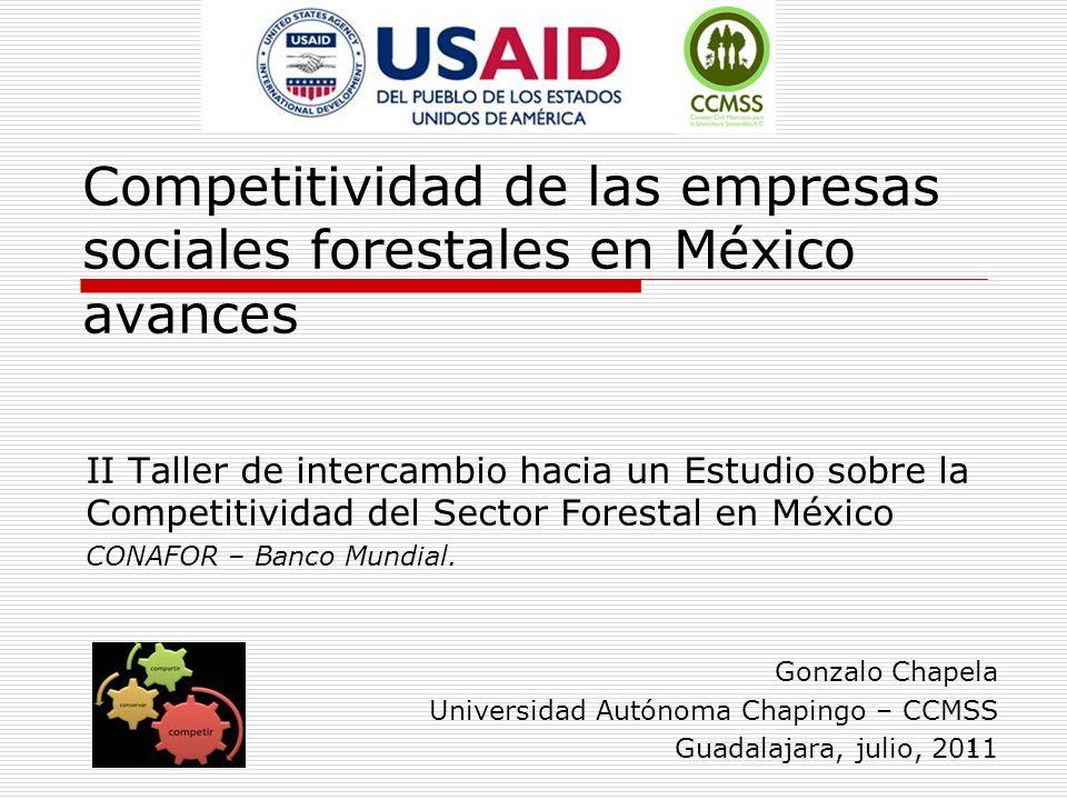 Competitividad de las empresas sociales forestales en México avances II Taller de intercambio hacia un Estudio sobre la Competitividad del Sector Fore