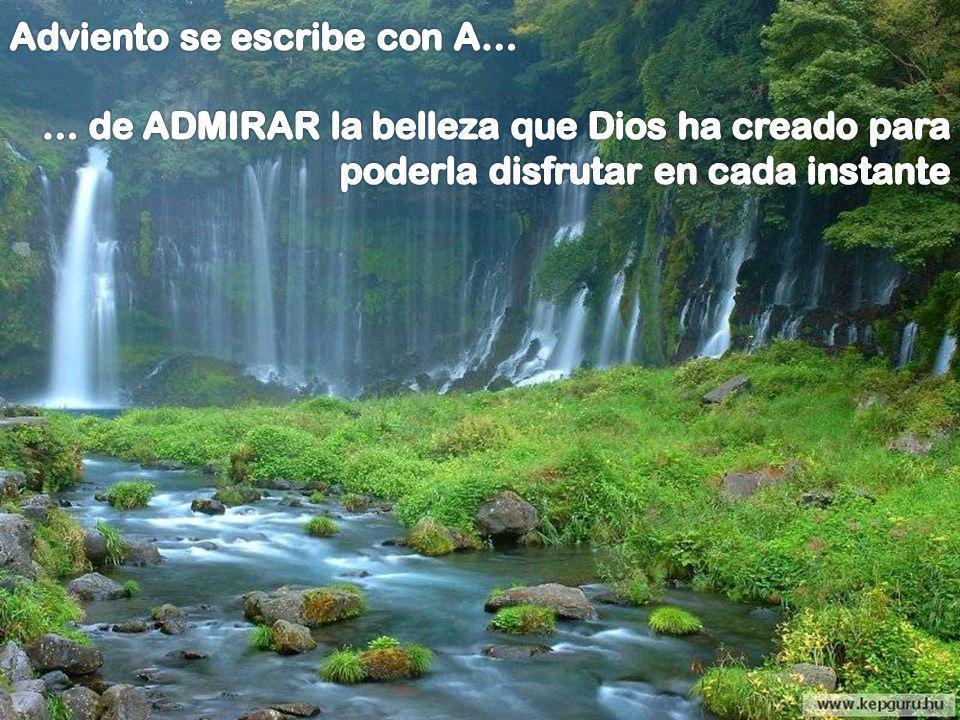 A coge al Dios que llega, D éjate encontrar por Él, V acíate de lo que te sobra, I nvócale con todo tu ser. E scúchale con atención, N ada debes temer
